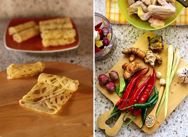 Making Roti Jala & Chic Curry