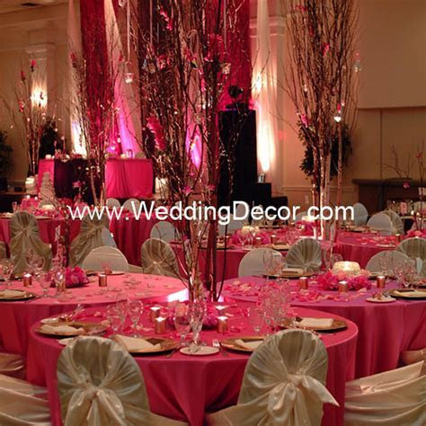 Brown & Fuchsia Wedding Reception   Cluster Tables   Flickr