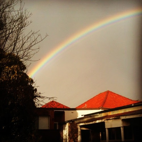The rainbow that greeted us on the day of departing Sydney. A good omen.