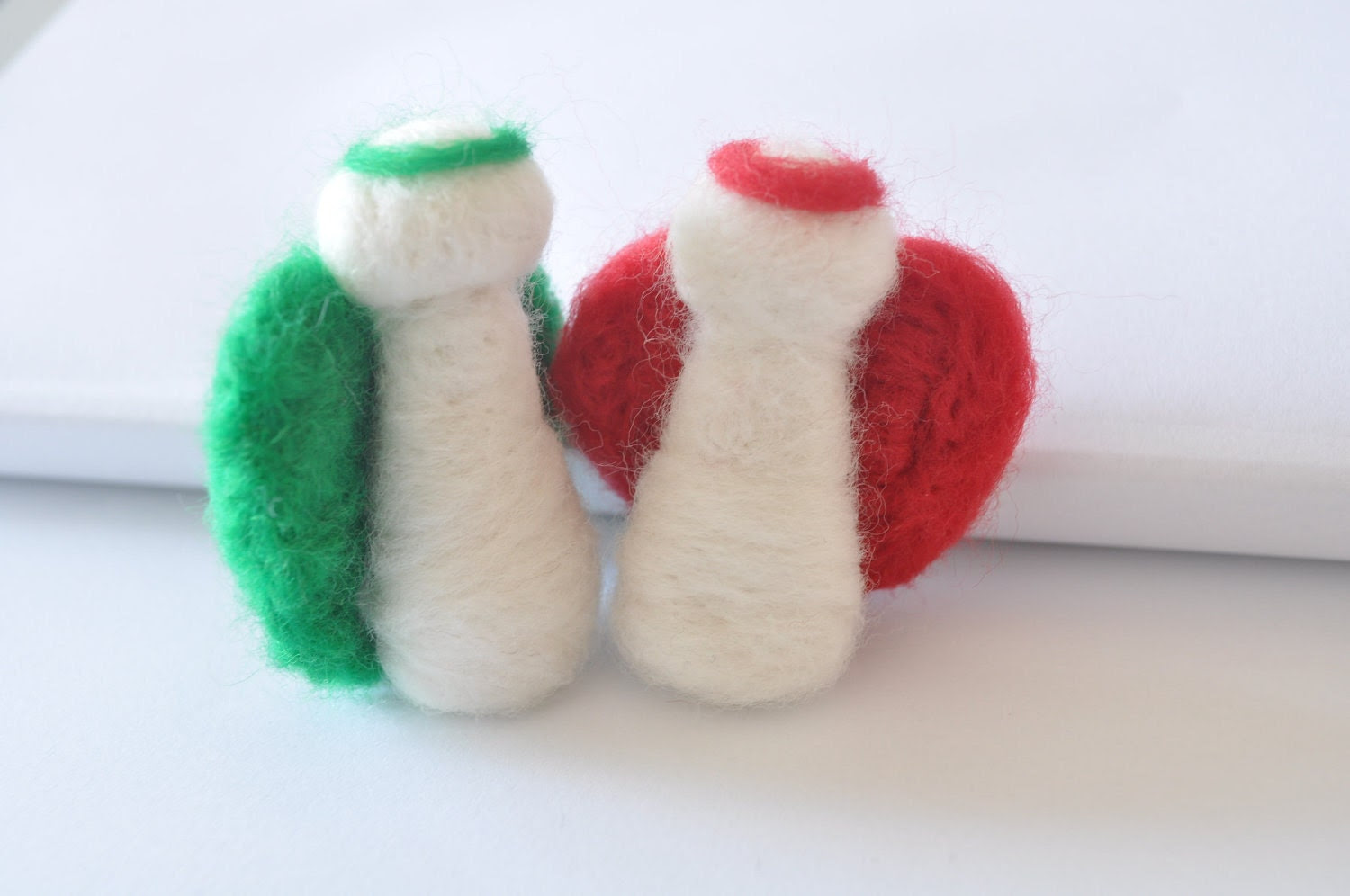 FREE SHIPPING Felt Angels - Christmas tree ornament - Personalized gift