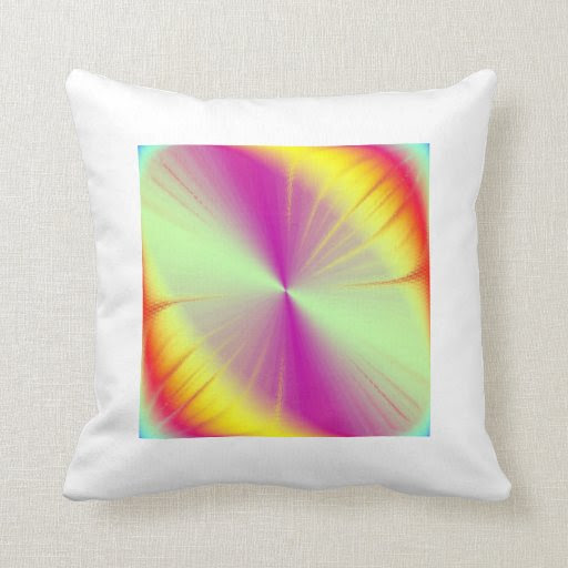 Rainbow Abstraction Throw Pillow