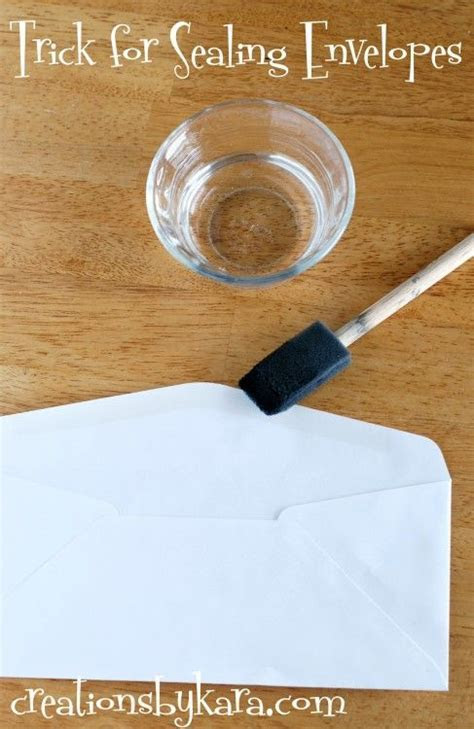 Best way to seal an envelope   just use water! So much