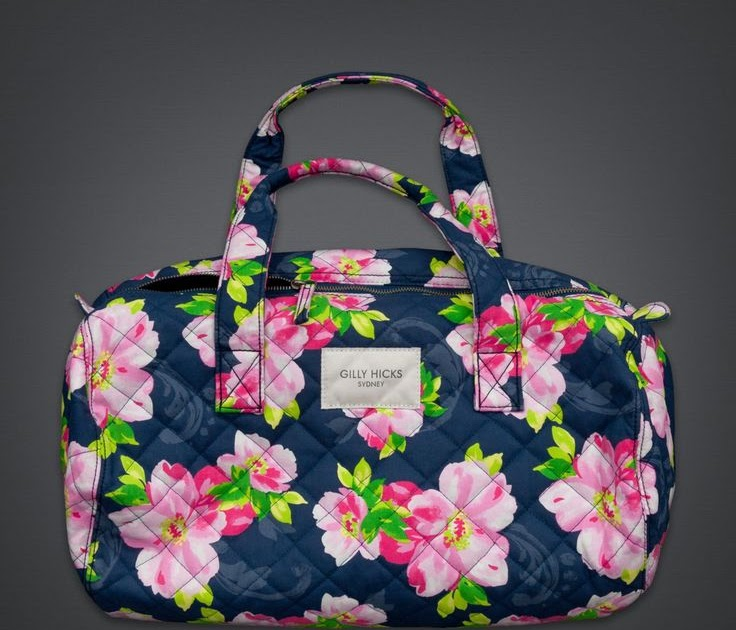 f4cde2d8404d Quilted Tote Bags: Gilly Hicks Quilted Duffle Bag