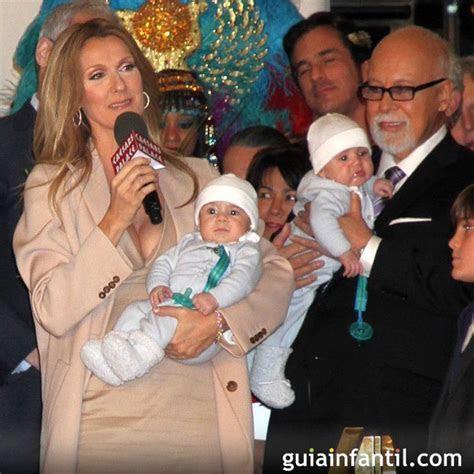La cantante Celine Dion con sus hijos gemelos   Celine