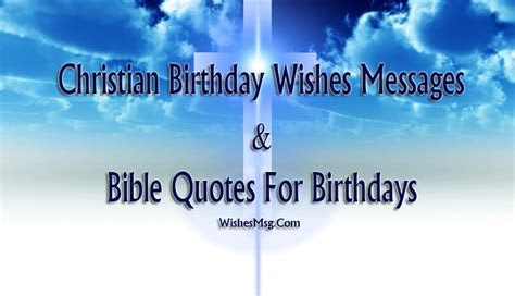 Christian Birthday Wishes   Birthday Bible Quotes   WishesMsg