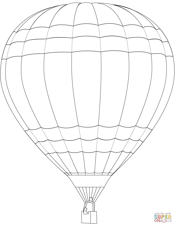 kleurplaat luchtballon peuters kleurplaten