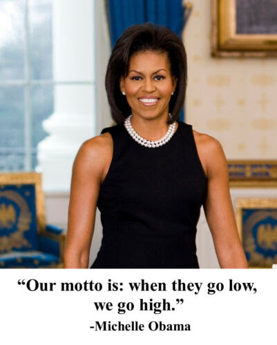 Barack Obama Michelle Obama Famous Quote 8 X 10 Photo Photograph Lot Of 2 Political Collectibles