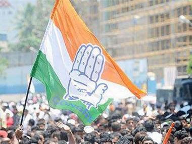 File Image of Congress flags. News18