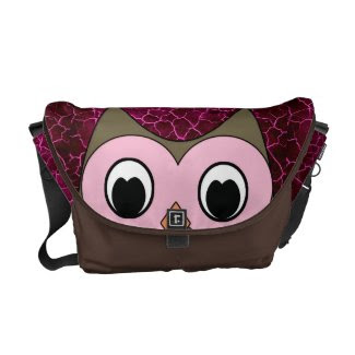 Cute Peek a Boo Owl Courier Bag