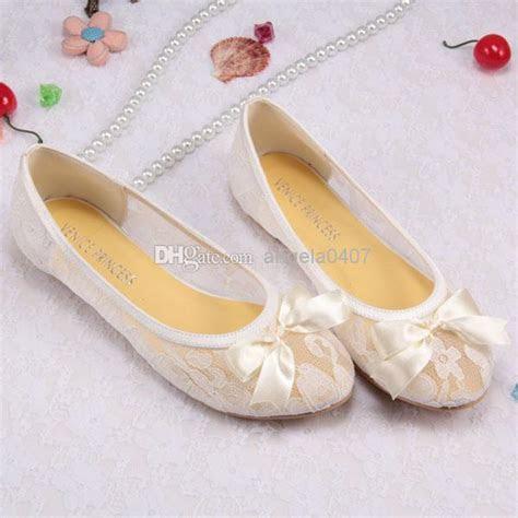 Free/Drop Shipping Ivory Lace Ballet Flats Bridal Wedding