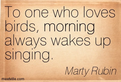 To One Who Loves Birds Morning Always Wakes Up Singing
