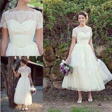 Cheap Spring Short Beach Lace Wedding Dresses Plus Size