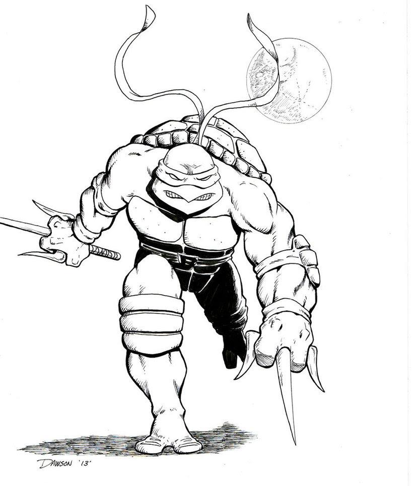 ninja turtle dessin  colorier