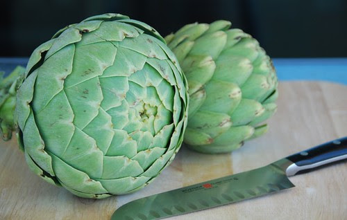 big heart and globe artichokes
