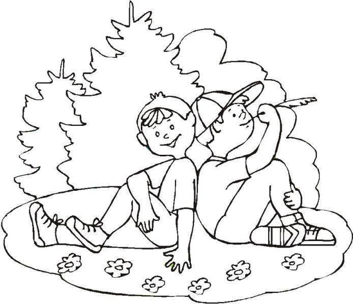 Dibujos Para Colorear Del Día Del Amigo Dibujos Gratis Para