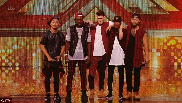 Going for it: Other acts to perform on the night were The First Kings –who received four yesses for their rendition of Mark Ronson's hit Uptown Funk