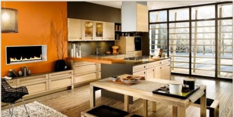 Modernas y sofisticadas cocinas en color naranja-10