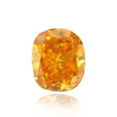 1.44 quilates, Fancy Vivid naranja amarillento Diamond, Almohada