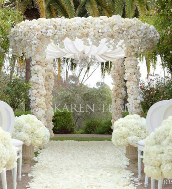 Wedding Decorations Outside Ceremony