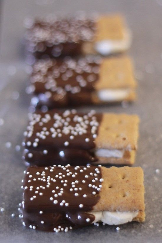 Dipped s'mores.