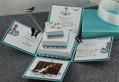 Dagny Exploding Box Wedding Invitation   Jinkys Crafts
