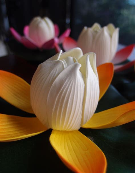"""6"""" Color Changing Floating Water Lotus Flower w/ Light"""