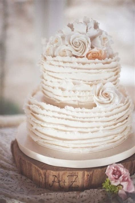 Buttercream Ruffle Wedding Cake   perfect for a rustic