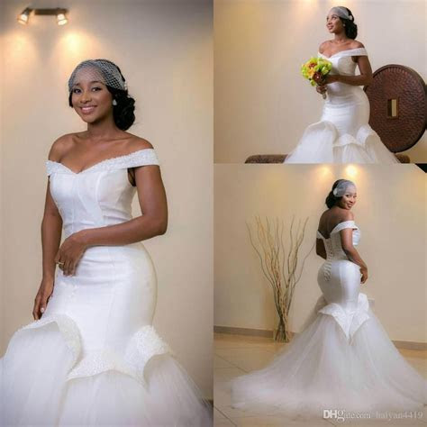 2017 New Arabic African Mermaid Wedding Dresses Off