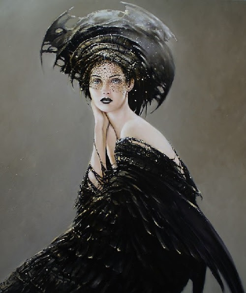 Female beauty in painting by Polish artist Karol Bak
