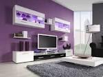 Wonderful Purple Living Room Themes Color Ideas | Interior Design ...