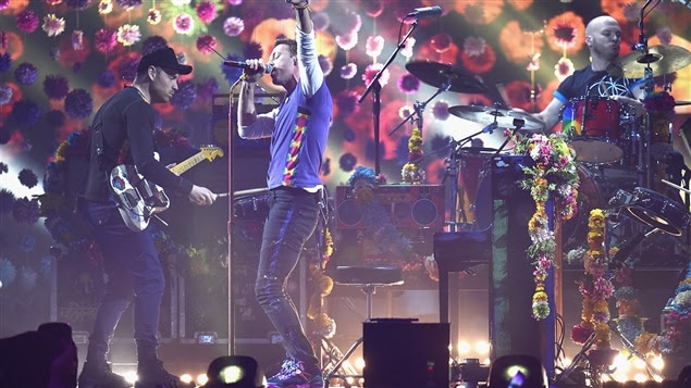 Coldplay en prestation aux Brit Awards