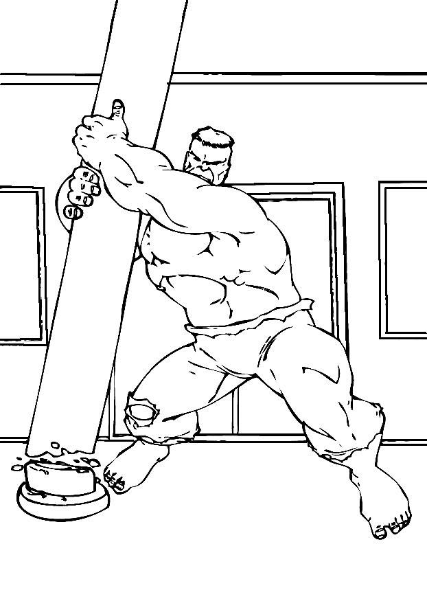 Dibujos Para Colorear Hulk Para Un Desarrollo Infantil En Conjunto