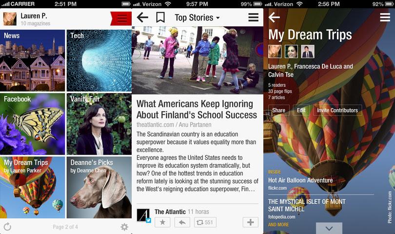 flipboard1 8 aplicaciones de iPhone que todo diseñador debe poseer