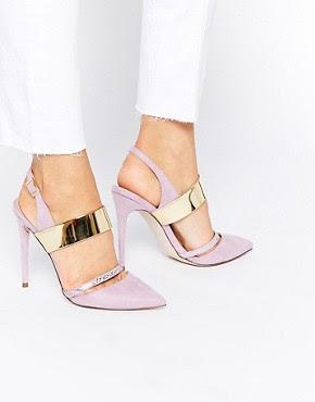 Zapatos de punta con tacón alto PENNY de ASOS