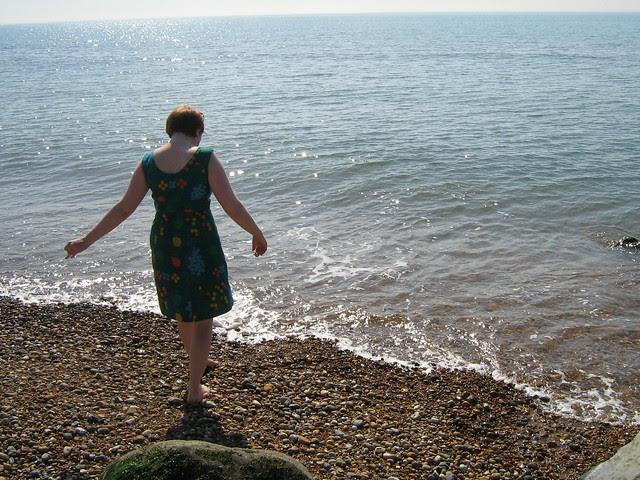 me on Sandgate beach