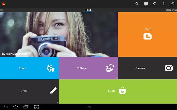 screenshot de PicsArt