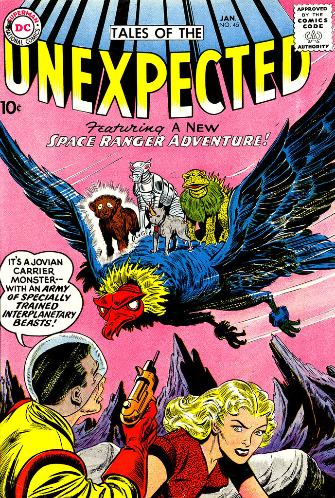 Tales of the Unexpected #45 (DC, 1960) Dick Dillin, Sheldon Moldof cover