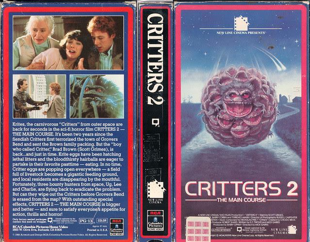 CRITTERS 2 (VHS Box Art)
