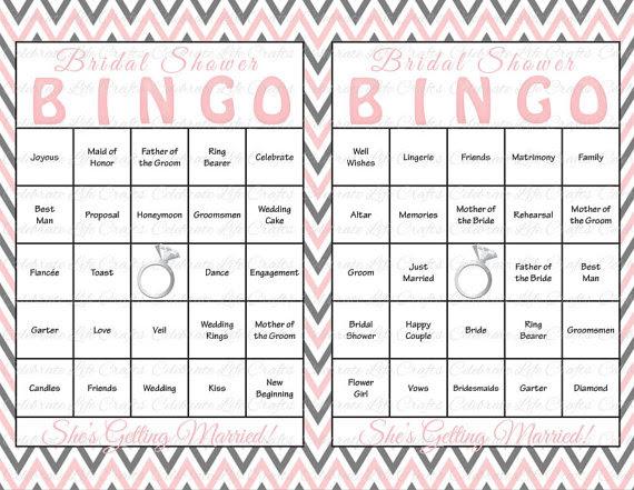 printable bridal shower bingo cards calendar june