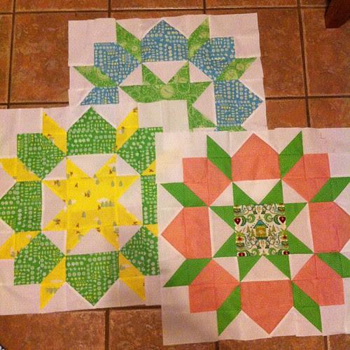 My final 3 Swoon blocks.