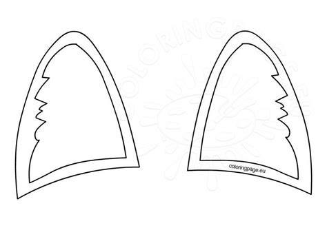 cat ears template coloring page
