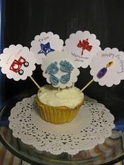 Quilled Cupcake Picks
