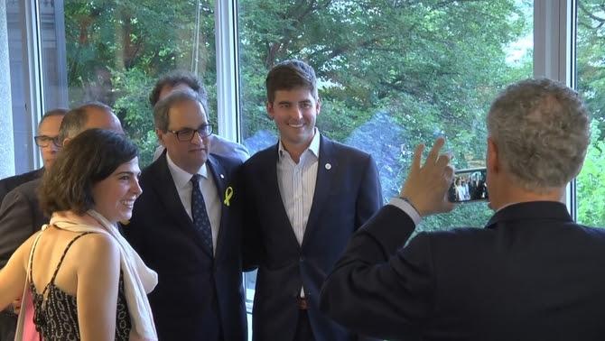 El president de la Generalitat, Quim Torra, aquest dimarts a Washington durant la inauguració del Catalonia America Council