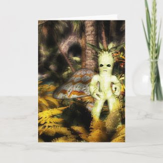 Living Tree & WIzard Friend Greeting Card