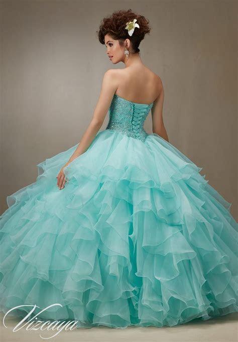 Quinceanera dress 89061 Light Aqua Vizcaya Morilee