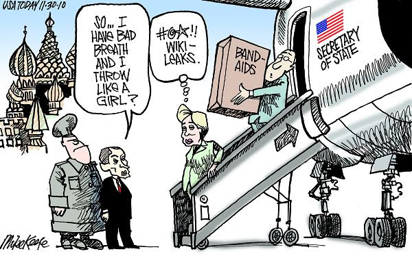 Image result for wikileaks hillary cartoons