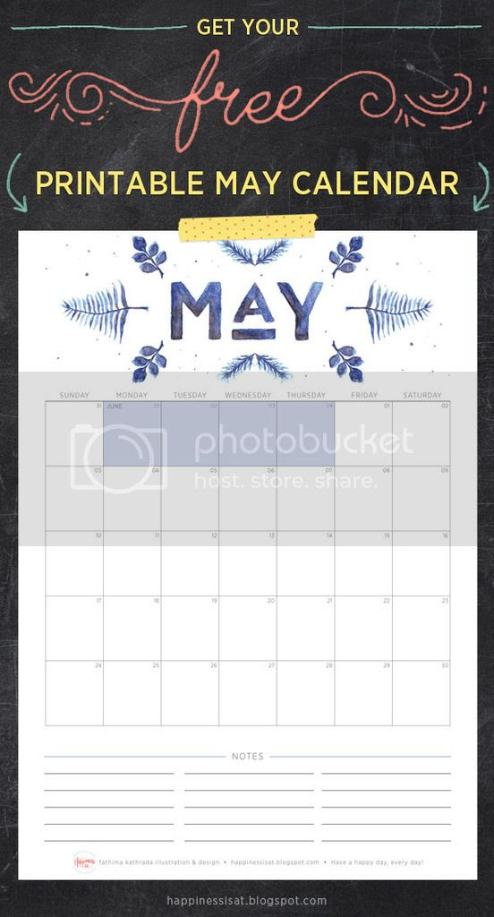 Happiness is... May 2015 Free Printable Calendar and Planner