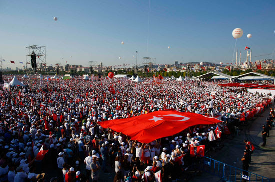 احتجاجات ضد الرئيس التركى