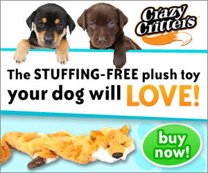 Crazy Critters - The plush toy with no stuffing in it that no dog can resist. Crazy Critters are strong, durable and realistic looking. Click here for details...