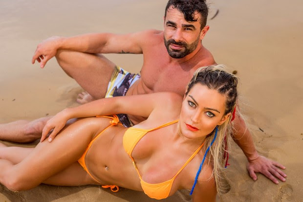 Laura keller com o marido (Foto: Paulo Sousa)